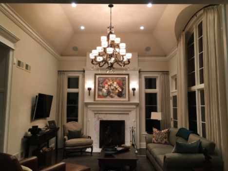 Lake Forest Living Room/family space Lighting