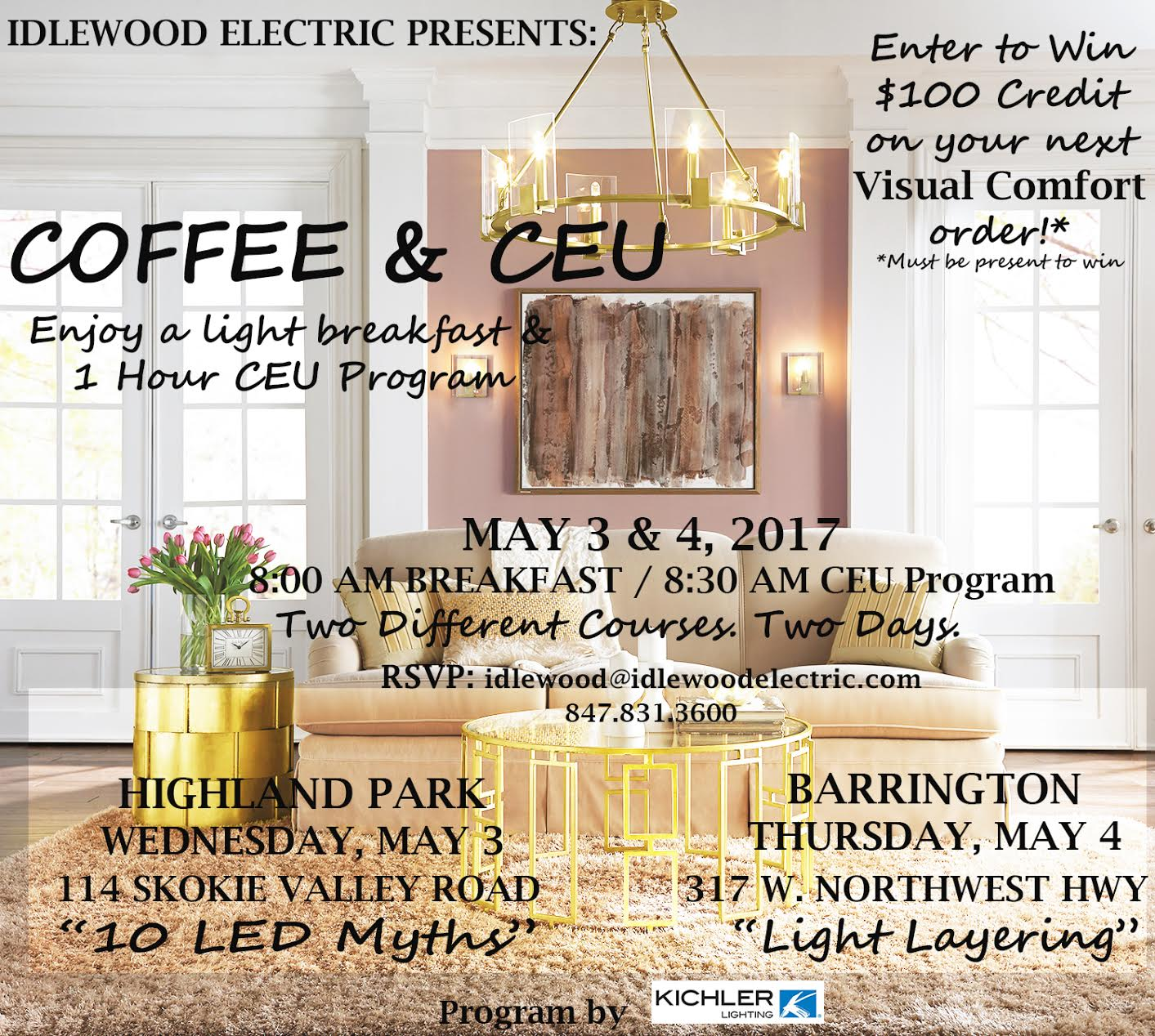 Youu0027re Invited to Idlewood Electricu0027s u201cCoffee u0026 CEUu201d programs on Wednesday May 3rd and Thursday May 4th for a complimentary breakfast and 1-hour CEU ...  sc 1 st  Idlewood Electric & Lighting u0026 Electric Supply Events in Chicago | Idlewood azcodes.com